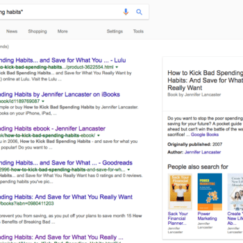 Book results on Google