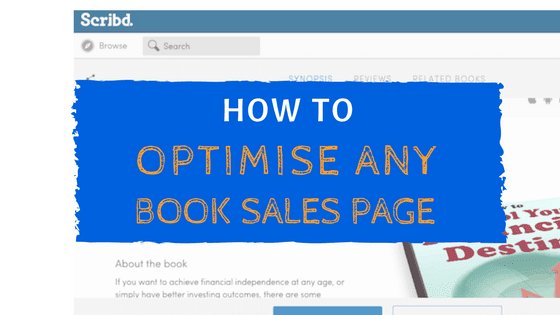 optimise book sales page