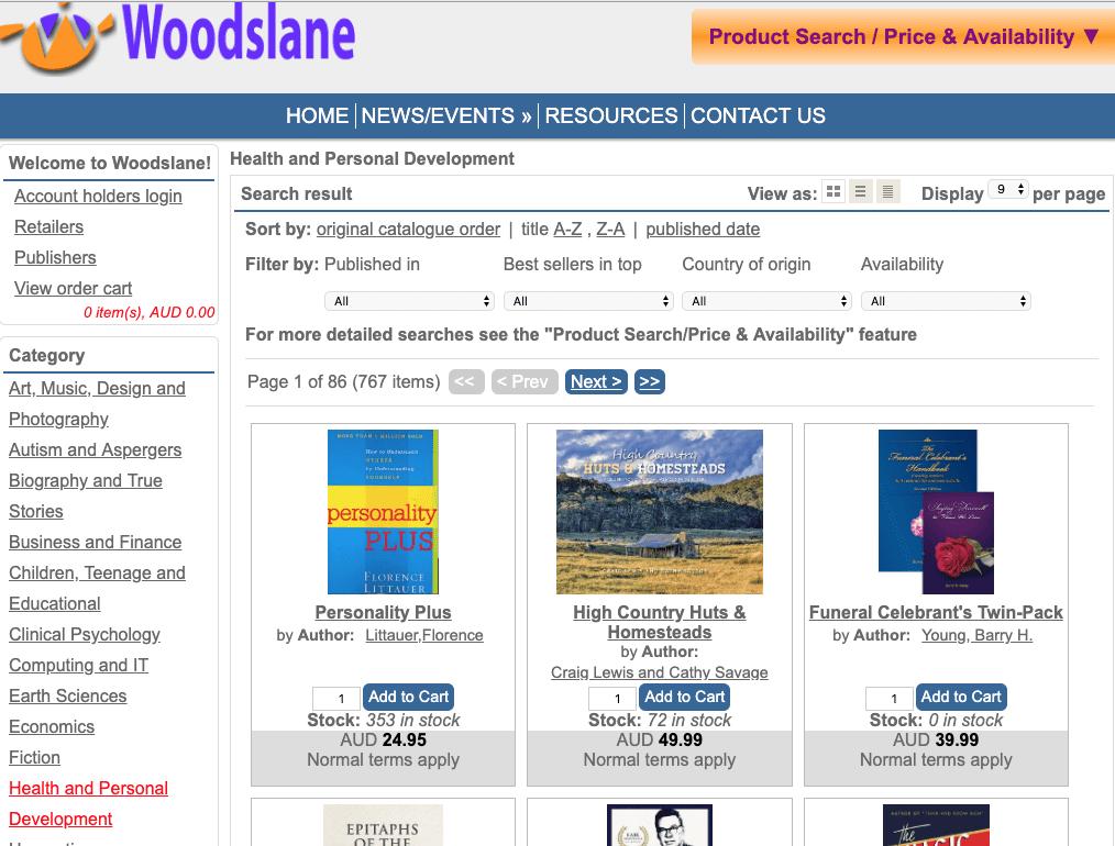 Woodslane Book Distributor