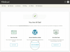 Wordpress one click hosting