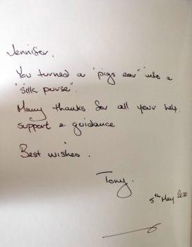Tony book caption