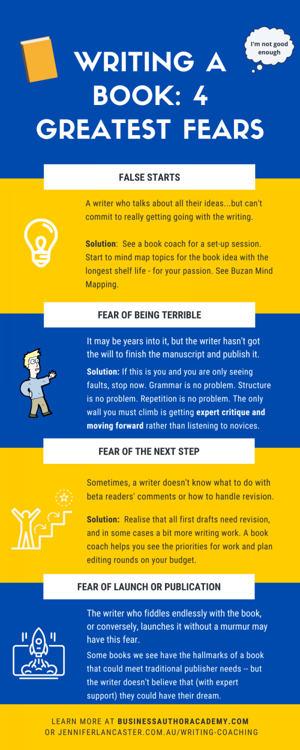 top fears of writing a book infographic