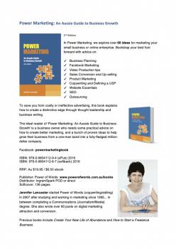 marketing book one sheet