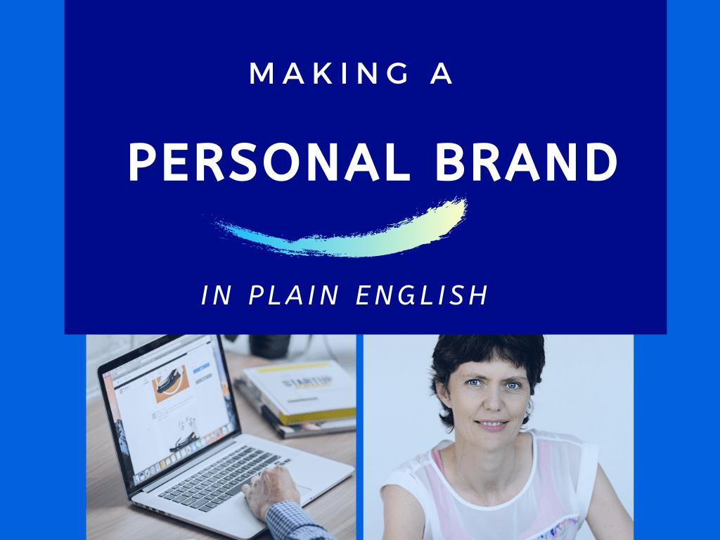 making personal brand plain english
